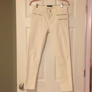 Banana Republic cream corduroy skinny jeans